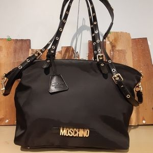 MOSCHINO Nylon Signature Tote Bag